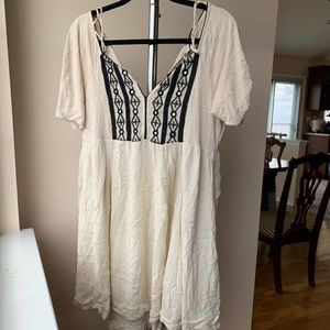 Free People Ivory flowy dress